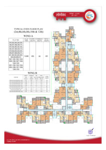 A-B Building Even Floor Plan